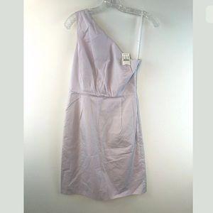 J Crew Purple Cotton Dress one shoulder